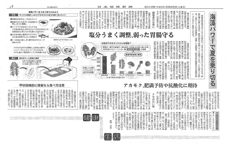 日本経済新聞2016年6月25日朝刊記事